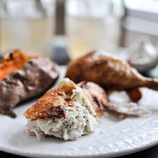 Goat Cheese Roasted Chicken