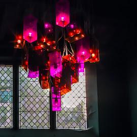 light by Radijsje VC - Artistic Objects Glass ( lights, red, window, ghost )
