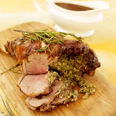 Stuffed Leg Of Lamb With Rosemary & Pine Nuts