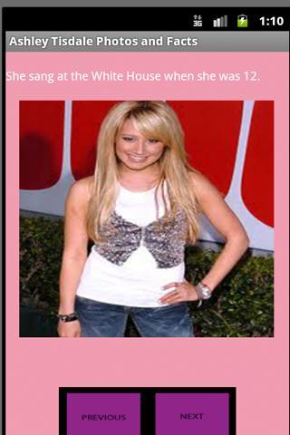 Ashley Tisdale Fan Facts