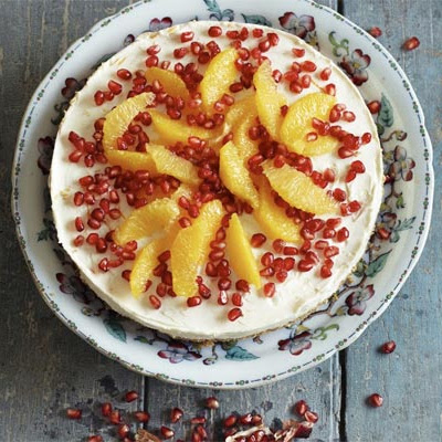 Orange & Pomegranate Cheesecake