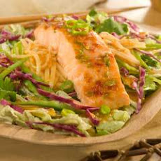 Chili-glazed Salmon With Asian Salad Greens