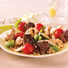 Steak and Vegetable Kabobs Recipe