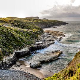 Maingon Bay by Leonie Mcdonald - Landscapes Waterscapes ( beaches, ruggardcoastline )