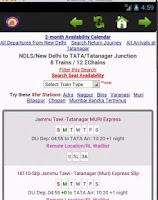 Screenshot of Indian Railway Information