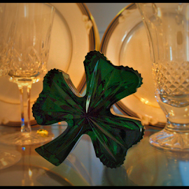 Shamrock by Becky McGuire - Artistic Objects Glass ( shamrock, mcguire, ireland, tvlgoddess, green, art, glass, waterford, crystal, becky,  )