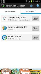 Default App Manager Lite Screenshot