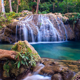 Waeura Waterfall  by Edwin Prihartanto - Landscapes Waterscapes