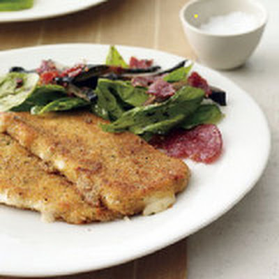 Fried Mozzarella Steaks with Crispy Salami