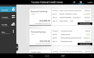 Screenshot of Tucson FCU