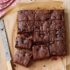 Dark-Chocolate Cherry Brownies