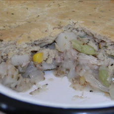Basil Biscuit Topped Chicken Pot Pie