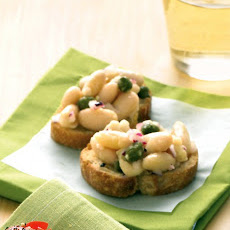 White-Bean and Caper Crostini