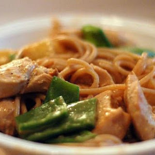 Chicken Pasta with Peanut Butter Sauce