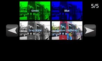 Screenshot of Live FX Camera effects
