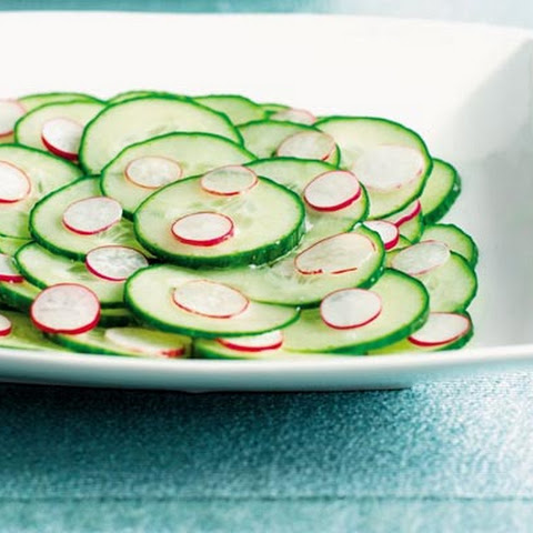 Cucumber And Radish Salad With Feta, Red Wine Vinegar, And Buttermilk ...