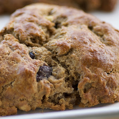 Banana, Espresso, and Chocolate Chip Scones