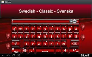 Screenshot of SlideIT Swedish Classic Pack