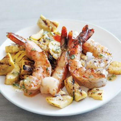 Grilled Shrimp and Summer Squash