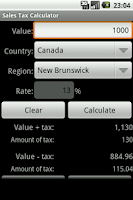 Screenshot of Sales Tax Calculator (VAT GST)