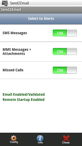 Send2Email - SMS MMS Calls