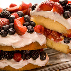 Easy Berry Butter Cake Recipe