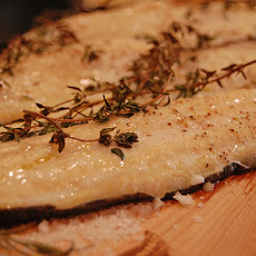 Maple-Planked Brook Trout