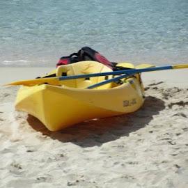 Yellow Kyack by Marla Kaufman - Sports & Fitness Watersports