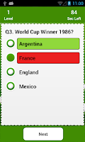 Screenshot of Soccer quiz