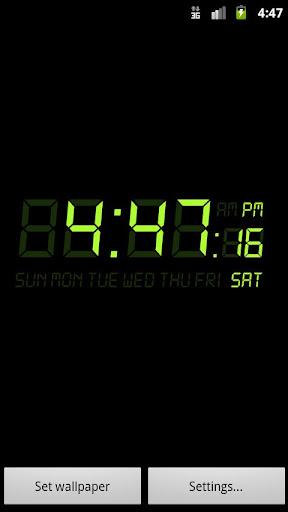 目覚まし時計の壁紙
