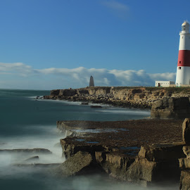 Portland Bill by Dave Dodge - Novices Only Landscapes ( portland, portland bill, lighthouse, dorset )