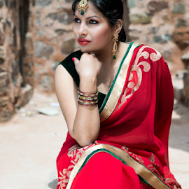 Model by Ajay Singh - People Fashion ( fashion, model, red, female, indian, lady )