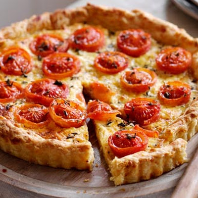 Roast Tomato, Thyme And Cheddar Tart