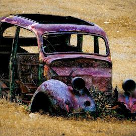Forgotten by Amanda Coertze - Digital Art Abstract ( car, forgotten,  )