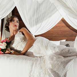 Elegant of the Bride by Amin Basyir Supatra - Wedding Bride ( love, bali, prewedding, wedding, beautiful, white, beauty, bride )