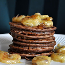 Roasted Banana Chocolate Pancakes