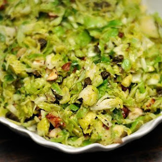 Hashed Brussels Sprouts with Hazelnuts and Fried Capers