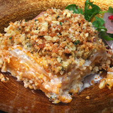 Celery Root and Squash Gratin with Walnut-Thyme Streusel Recipe