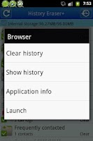 Screenshot of History Eraser +