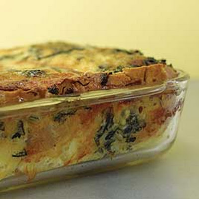 Strata with Beef, Cheese and Spinach