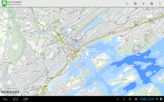 Screenshot of Kommunekart - Map of Norway