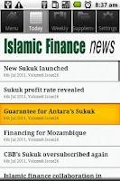 Screenshot of Islamic Finance News