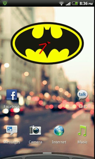 Batman Clock Widget
