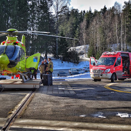 by Jose Figueiredo - Transportation Helicopters ( helicopter, ambulance, truck, norway )