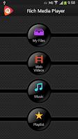 Screenshot of Rich Media Player Chromecast
