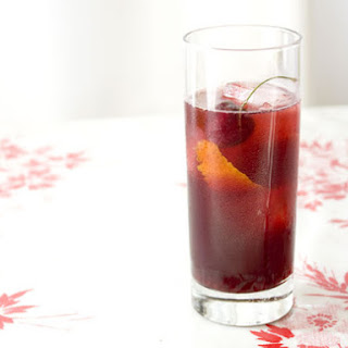 Lillet Rouge and Cherry Cocktail