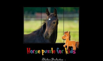 Screenshot of horses puzzles for children