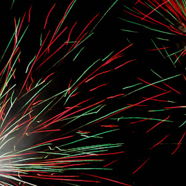 Colors. by Celeste Wallis - Abstract Fire & Fireworks ( abstract, hot august nights, reno, fireworks, close up )