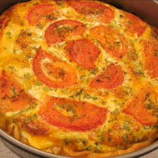Crustless Zucchini and Tomato Quiche