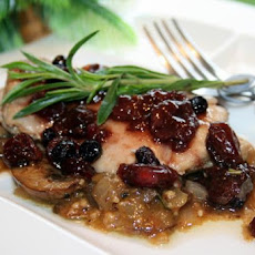 Cider Braised Chicken With Berry Sauce
